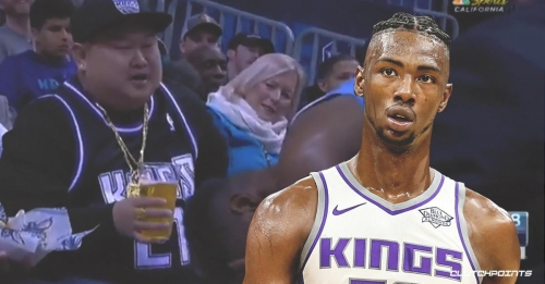 Video: Kings fan hilariously offers Harry Giles a beer during Hornets game