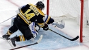 Rask ties Bruins record for wins in victory over Blues