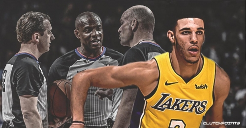 NBA referee addresses controversial foul call on Lonzo Ball late in Lakers-Thunder match