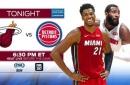 Big men prepare for battle as Heat visit Pistons