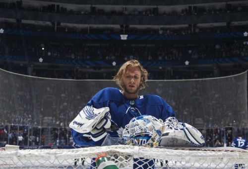 Leafs backup Garret Sparks tried to make the most of his missed opportunities