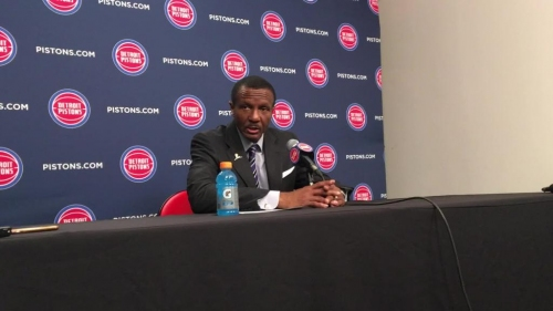 Detroit Pistons' Dwane Casey talks about team's energy level vs. Heat