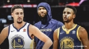 Video: Warriors' Klay Thompson, Stephen Curry douse water on DeMarcus Cousins