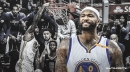 Picture-perfect image of DeMarcus Cousins' first dunk for Warriors