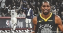 Kevin Durant reacts to DeMarcus Cousins getting standing ovation for fouling out; Boogie's wide-open 3-pointer