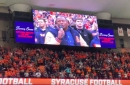Syracuse Orange celebrate Camping World Bowl victory at halftime ceremony