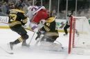 Bruins goalie Rask leaves game with concussion vs. Rangers