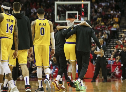 Lakers Injury News: Lonzo Ball Being Taken For X-Rays After Suffering Sprained Ankle In 3rd Quarter Vs. Rockets