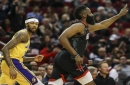 Lakers Jump On Rockets Early, But Let Game Slip Away After Losing Lonzo Ball To Ankle Injury