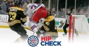 Hip Check: Rask gets bashed, leaves with concussion