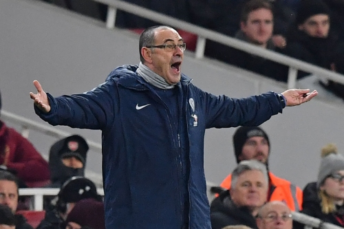 Furious Maurizio Sarri blasts Chelsea players after Arsenal defeat