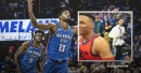 Paul George, OKC teammates have hilarious game-winner celebration