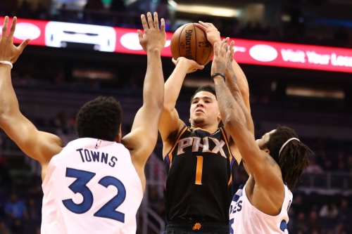 Preview: Reeling Suns face surgent KAT, Wolves on the road