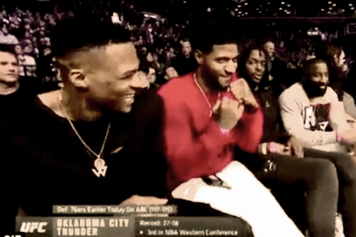 Westbrook, George, Adams and the gang take in UFC fight night