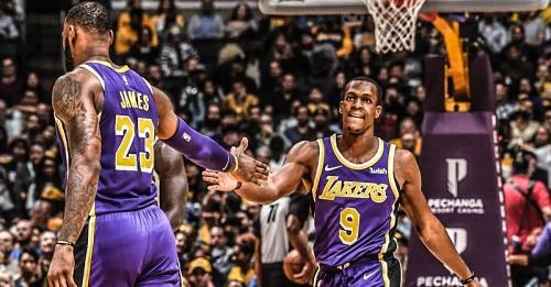 Lakers' LeBron James, Rajon Rondo listed as out vs. Warriors