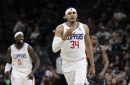 Harris' near triple-double leads Clippers by Spurs, 103-95