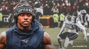 Patriots WR Josh Gordon congratulates teammates after reaching Super Bowl