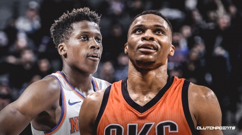 Video: Thunder's Russell Westbrook clowns Knicks' Frank Ntilikina with brilliant pump-fake, trolling ensues