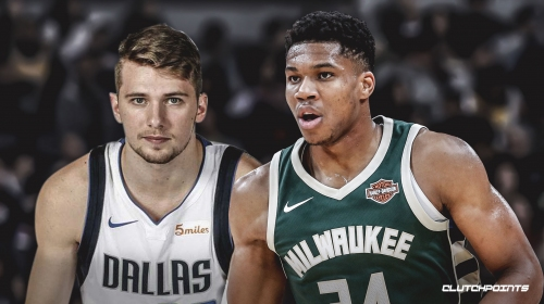 Video: Bucks' Giannis Antetokounmpo stares down Mavs' Luka Doncic after poster dunk