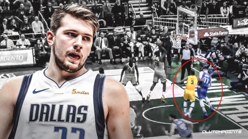 Video: Mavs fan furious at Luka Doncic getting pushed out of bounds by Bucks
