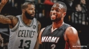 Marcus Morris reacts to being selected to swap jerseys with Dwyane Wade