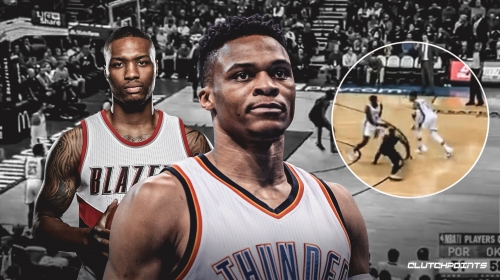 Tuesday's game was 1st time Damian Lillard, Russell Westbrook exchanged in-game barbs