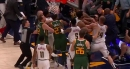 Video: Derrick Favors, Mason Plumlee get into scuffle during Jazz-Nuggets game