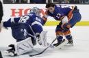 Andrei Vasilevskiy just short in the save streak at NHL skills competition