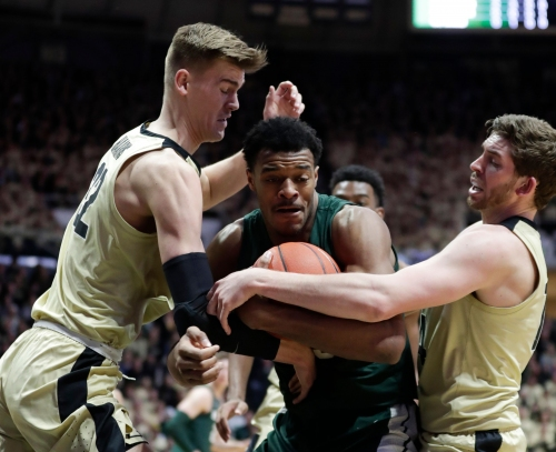 Spartans rally falls short at Purdue; well-positioned for stretch run