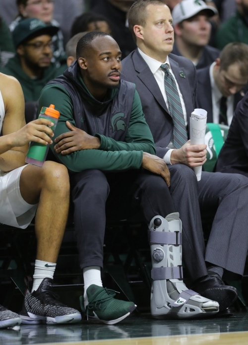 Michigan State basketball's Joshua Langford out for season with foot injury