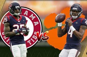 Texans' Watson, Jackson disagree over Clemson-Alabama rivalry