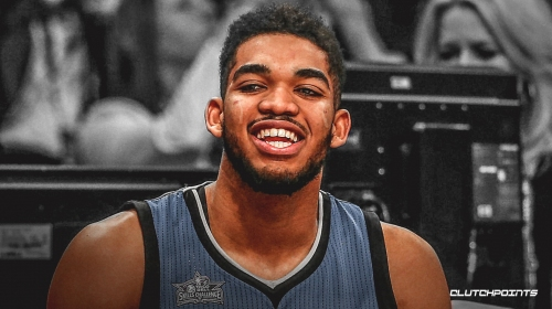 Video: Timberwolves star Karl-Anthony Towns in tears upon finding out he's a two-time All-Star