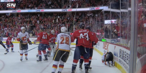 Fights break out after Backstrom levels Gaudreau with cheap shot