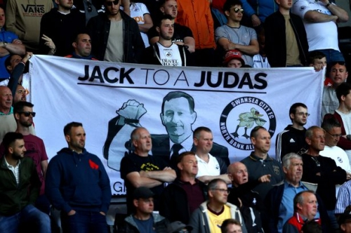 Swansea City fans turn on club's owners at Bristol City following January transfer window misery