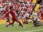 Liverpool forward Mohamed Salah's record vs. West Ham United