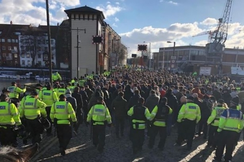 Police condemn Swansea City fans 'seeking confrontation' as trouble flares at Bristol City match
