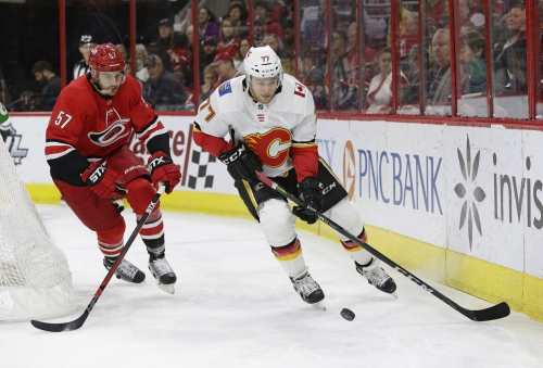 Ryan, Lindhom, Hanifin lift Flames in return to Raleigh