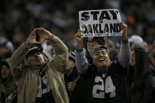 Report: Raiders will play 2019 season in San Francisco