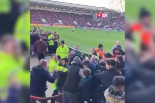 Shocking Bristol City vs Swansea City brawl video emerges after fans clash