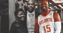 Hawks' Vince Carter greets Kevin Durant's mom in game vs. Wizards