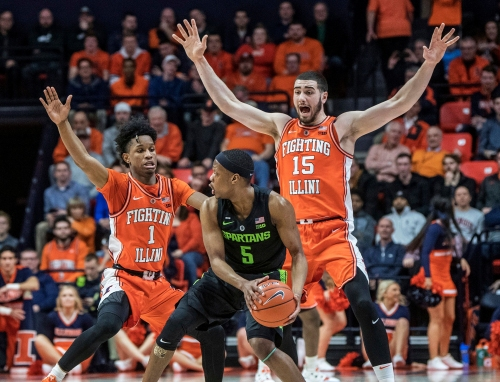 Michigan State basketball drops third straight game in loss at Illinois