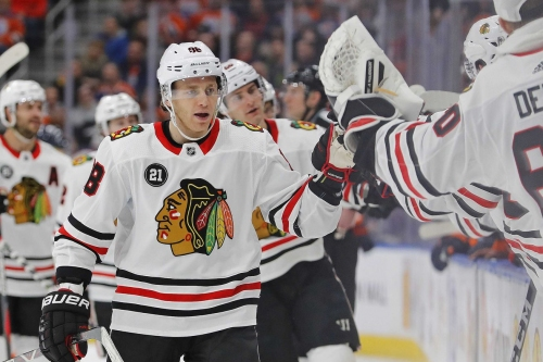 3 up, 3 down from Blackhawks' 6-2 win against the Oilers
