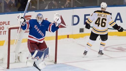 DeAngelo gets deciding goal in shootout, Rangers beat Bruins