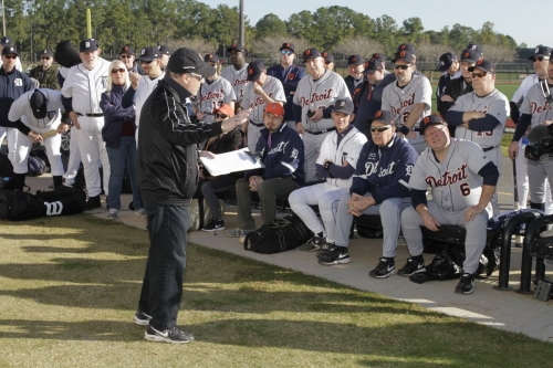 I went to Detroit Tigers fantasy camp. The people are better than my fastball