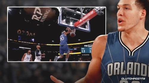 Video: Magic's Aaron Gordon shakes off Taj Gibson and throws down alley-oop vs. Timberwolves