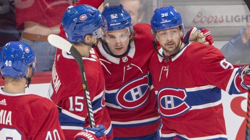 Drouin's four-point night leads Canadiens past Jets