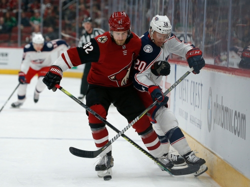 Slumping Coyotes drop one at home to Blue Jackets