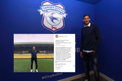 Emiliano Sala's sister posts heartbreaking tribute as Dorset Police confirm death of Cardiff City striker