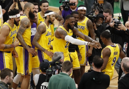 Lakers Highlights: LeBron James' Triple-Double, Rajon Rondo's Game-Winner Leads L.A. Past Celtics