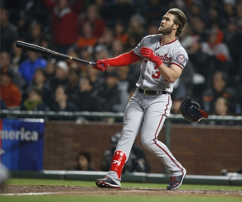Giants discuss interest in Bryce Harper, plan to acquire outfield help